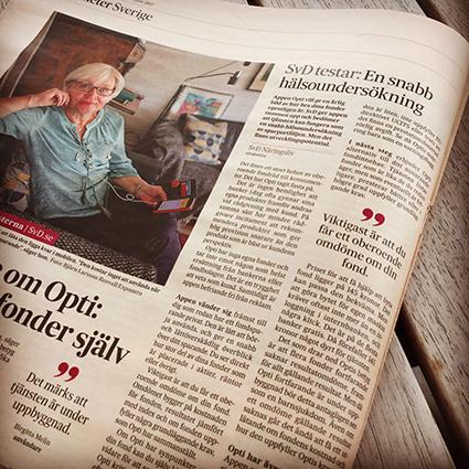 Svenska Dagbladet Opti test recenssion