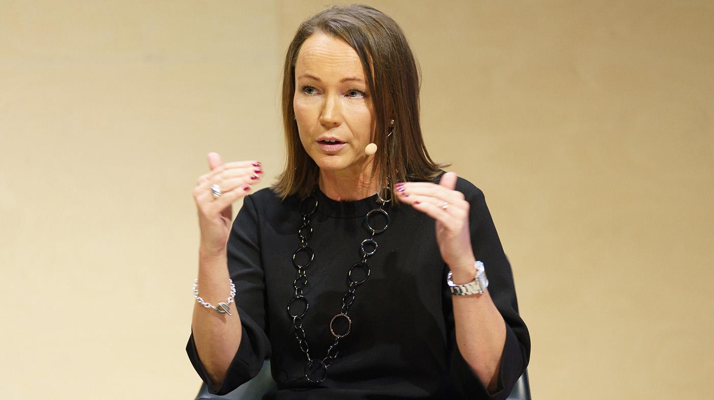 Ann Grevelius från Opti i panelen på Nordnet Live